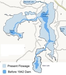 Flowage Map then and now